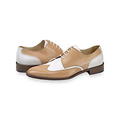 1950s Style Mens Shoes Francis Wingtip Derby $230.00 AT vintagedancer.com