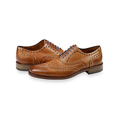 1950s Style Mens Shoes Langston Wingtip Oxford $210.00 AT vintagedancer.com