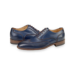 1950s Style Mens Shoes Duke Wingtip Oxford $210.00 AT vintagedancer.com