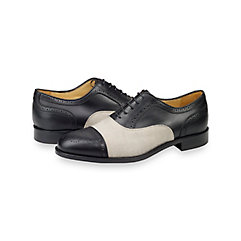 1950s Style Mens Shoes Dawson Cap Toe Oxford $230.00 AT vintagedancer.com