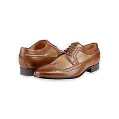 Italian Leather Two Tone Wingtip Oxford Shoe