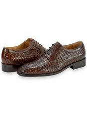 Italian Woven Leather Oxford Shoe