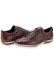 Italian Woven Leather Casual Shoe