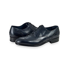 Italian Leather Wingtip Oxford $160.00 AT vintagedancer.com