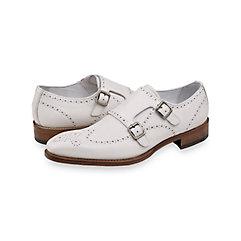 1960s Mens Shoes- Retro, Mod, Vintage Inspired Harvey Perforated Monk Strap $160.00 AT vintagedancer.com