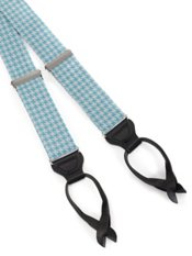 Houndstooth Silk Suspenders