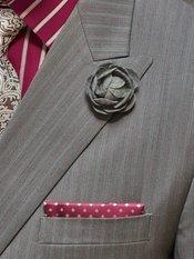 Wool Flower Lapel Pin