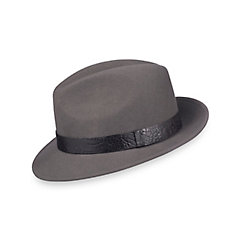 1920s Gangster – How to Dress Like Al Capone Wool Fedora With Leather Crocodile Embossed Leather Band $70.00 AT vintagedancer.com