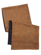 Silk & Wool Paisley Reversible Scarf