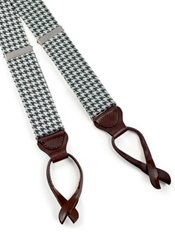 Houndstooth Silk Suspenders