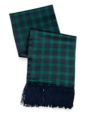 Blackwatch Plaid Silk Reversible Scarf