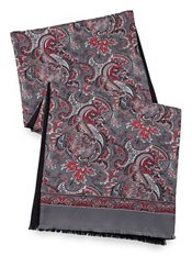 Paisley Silk & Wool Reversible Scarf