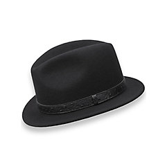 Wool Fedora with Ostrich Embossed Band $80.00 AT vintagedancer.com
