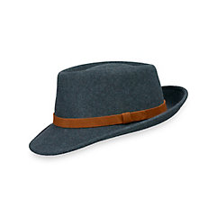 Men's Vintage Style Hats Wool Fedora With Suede Band $75.00 AT vintagedancer.com