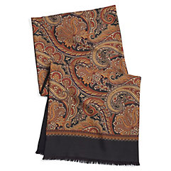1940s Style Mens Clothing Paisley Silk And Wool Reversible Scarf $90.00 AT vintagedancer.com