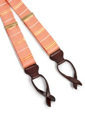 Striped Silk Suspenders