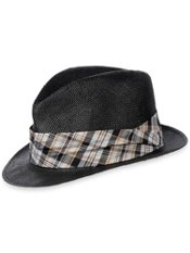 Straw Fedora With Presnap Brim