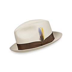 Genuine Panama Straw Fedora $105.00 AT vintagedancer.com