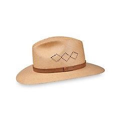 Men's Vintage Style Hats Straw Open Weave Fedora $90.00 AT vintagedancer.com