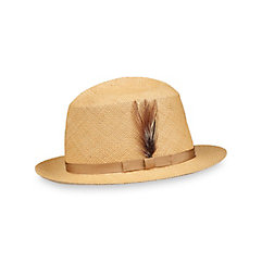 Men's Vintage Style Hats Genuine Panama Straw Fedora $95.00 AT vintagedancer.com