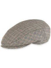 Glen Plaid Linen Ivy Cap