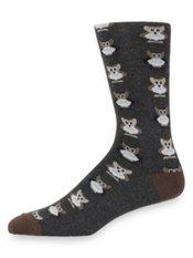 Peruvian Pima Cotton Blend Owl Socks