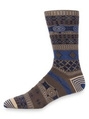 Peruvian Pima Cotton Blend Patterned Stripe Socks