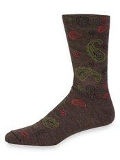 Peruvian Pima Cotton Blend Paisley Socks