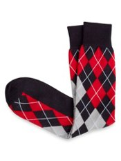 Pima Cotton Blend Argyle Sock