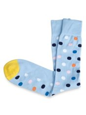 Pima Cotton Blend Dot Sock