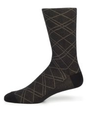 Peruvian Pima Cotton Blend Plaid Socks