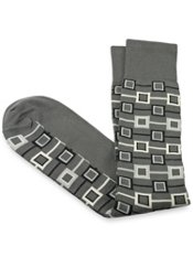 Pima Cotton Geometric Motif Sock