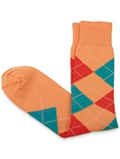 Pima Cotton Argyle Sock