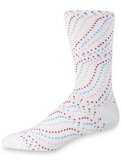 Peruvian Pima Cotton Blend Swirled Dot Socks