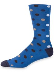 Peruvian Pima Cotton Blend Dot Socks