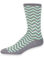Peruvian Pima Cotton Blend Chevron Socks