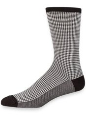 Peruvian Pima Cotton Blend Houndstooth Socks