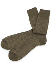 Mercerized Pima Cotton Blend Diamond Pattern Sock