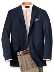 100% Wool Two-Button Travel Blazer