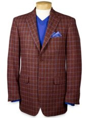 Pure Wool Windowpane Sportcoat