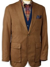 Microsuede Two-Button Sportcoat