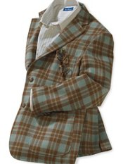 Italian Wool Plaid Soft Coat