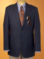 100% Cotton Two-Button Sport Coat with Epaulets