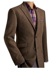 100% Wool Two-Button Peak Lapel Donegal Sport Coat