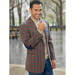 Multi-color Plaid Pure Wool Sport Coat $144.00 AT vintagedancer.com