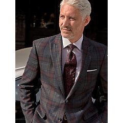 Multi-color Plaid Pure Wool Sport Coat $220.00 AT vintagedancer.com