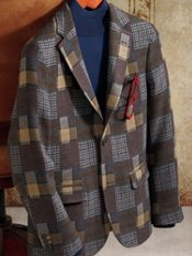 Two-Button Patchwork Sportcoat