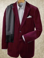 Two-Button Cotton Velvet Blazer