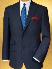 100% Wool Two-Button Peak Lapel Sportcoat