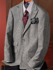 Italian Premium Wool Two-Button Donegal Sportcoat